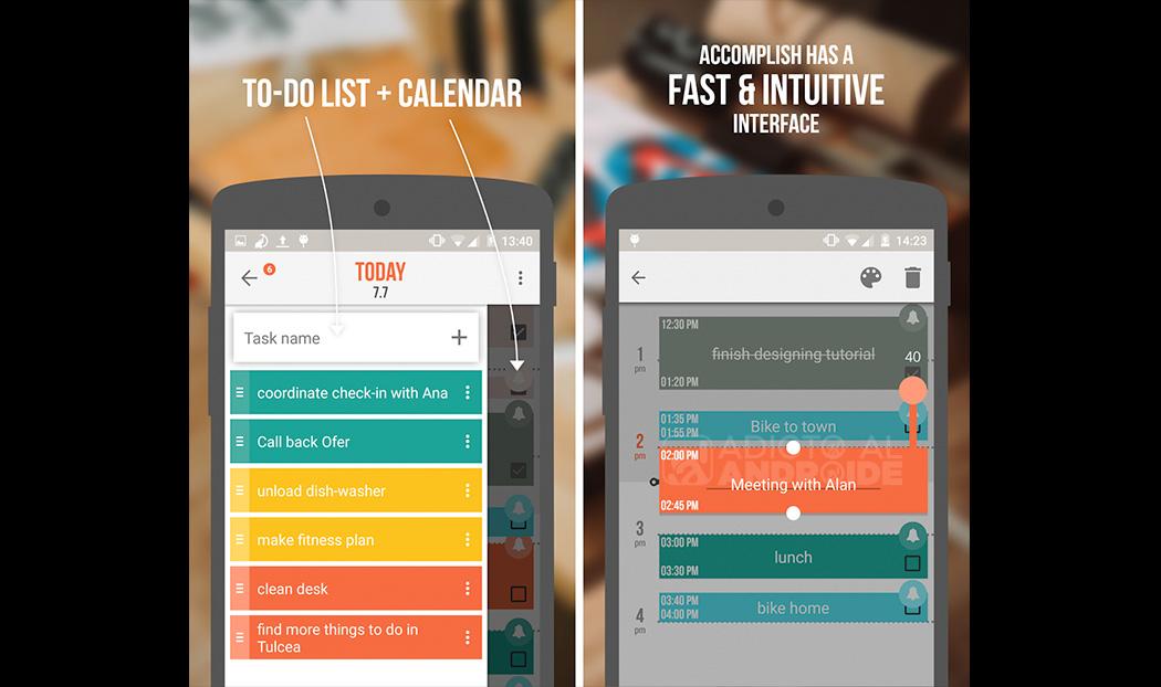 Accomplish la agenda facil y sencilla para tu android