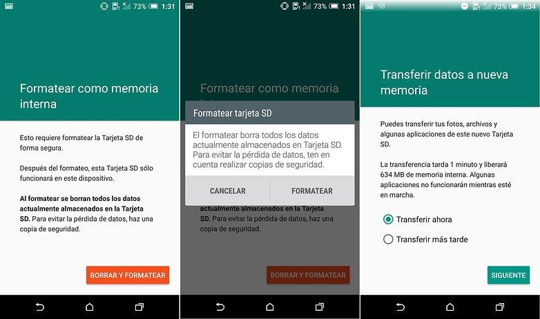 Formatear la tarjeta microSD como memoria interna en android
