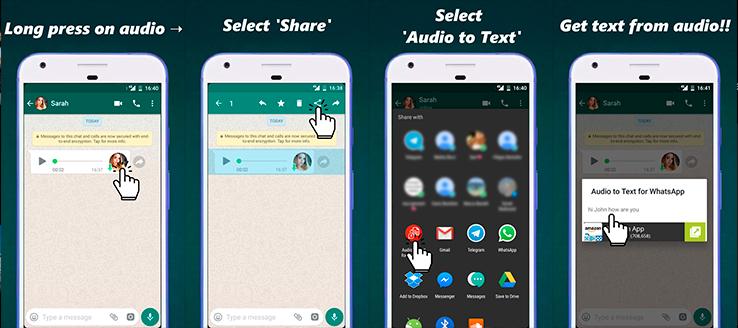 audio en texto para WhatsApp