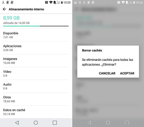 Mejorar el funcionamiento de smartphone Android sin aplicaciones