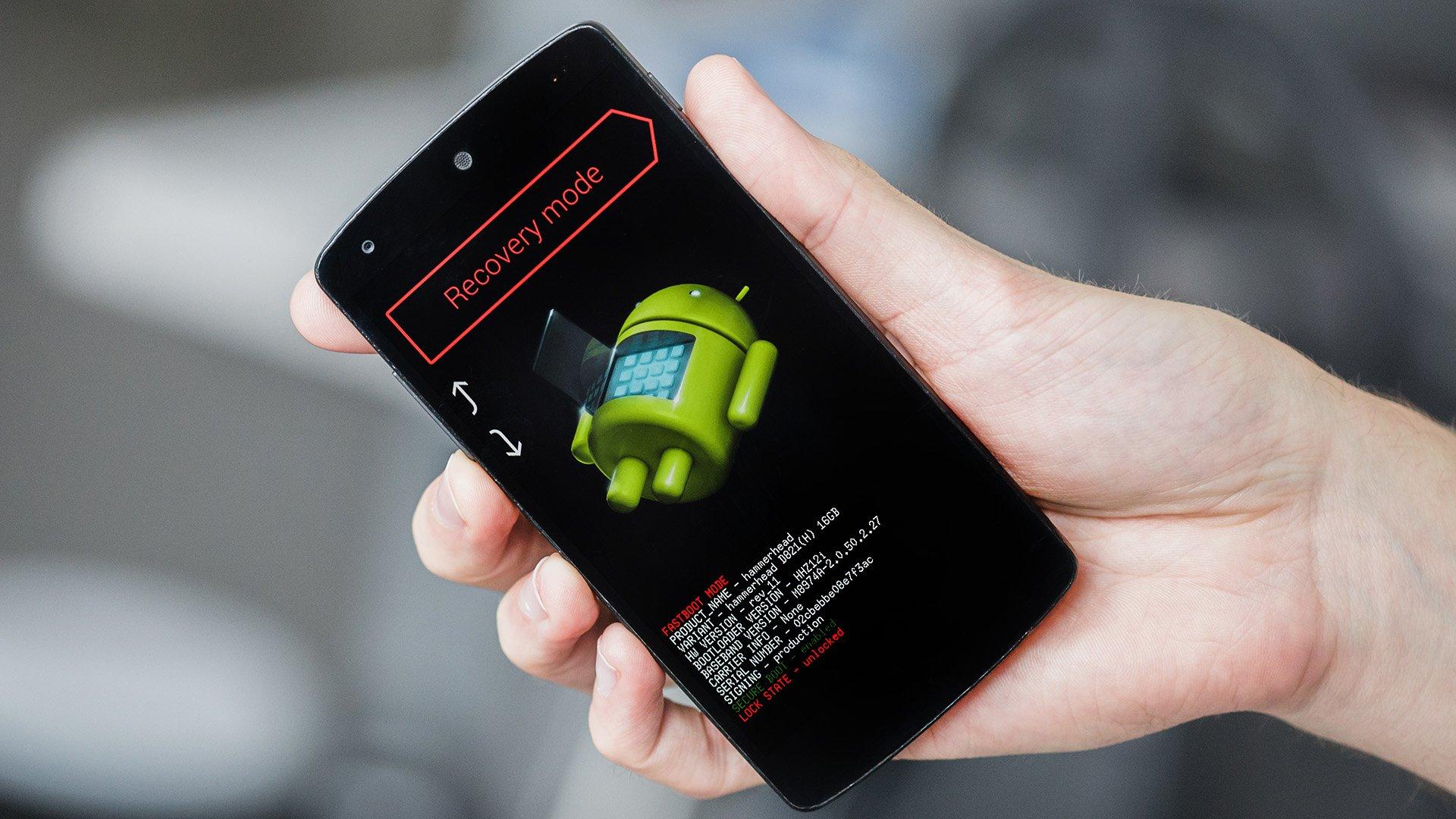 Android de fábrica desde recovery