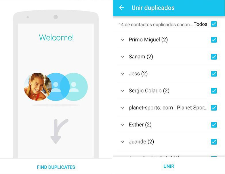 Eliminar Contactos Duplicados en Android