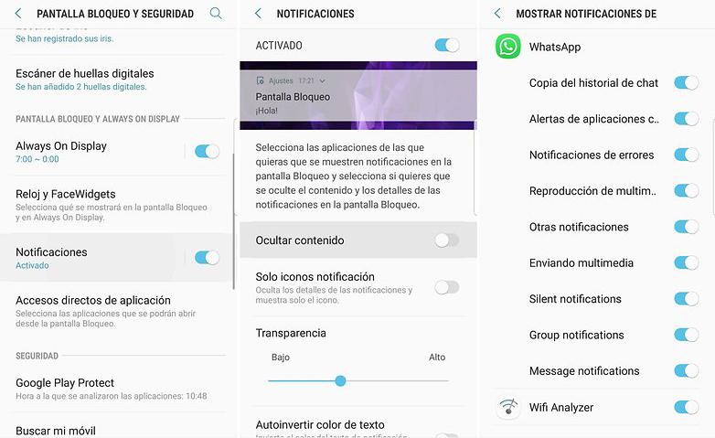 leer mensajes de WhatsApp con la pantalla bloqueada