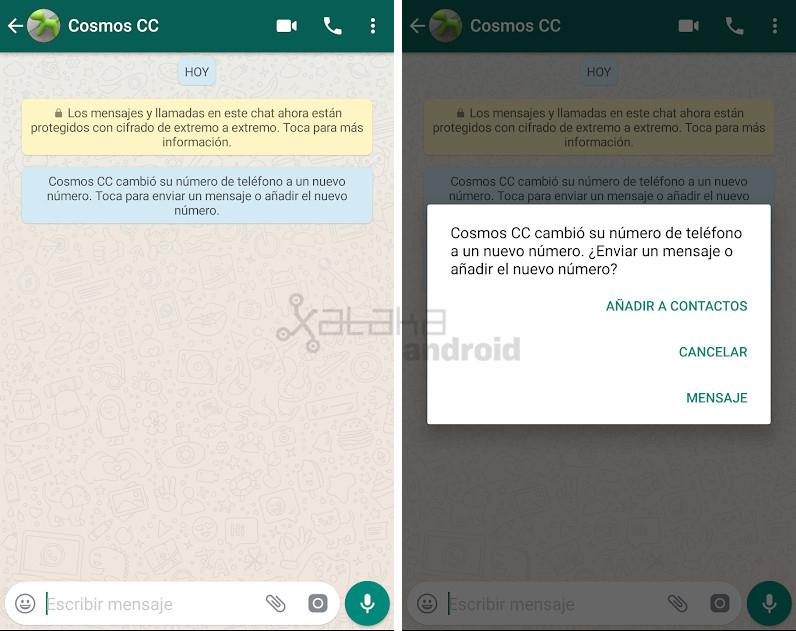 Cómo avisar a tus contactos de WhatsApp que cambiaste de número
