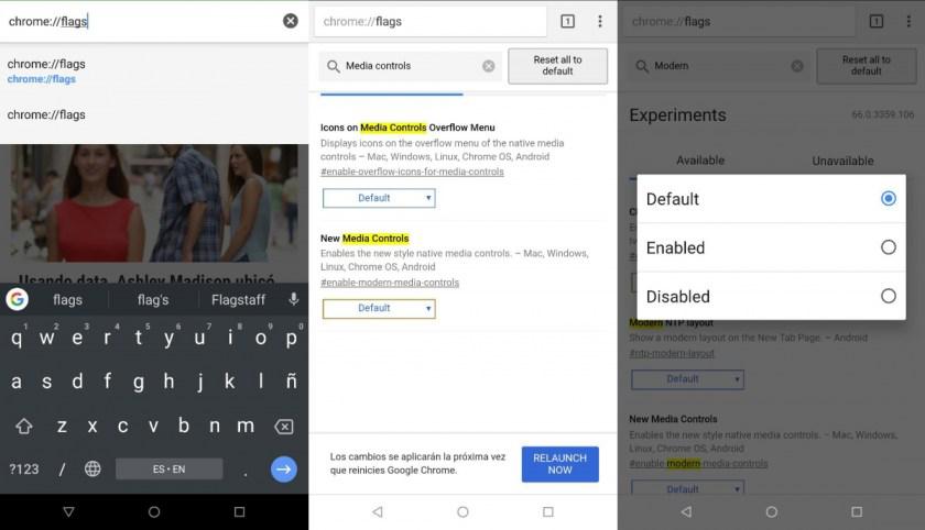 activar el nuevo diseño Modern Design de Chrome