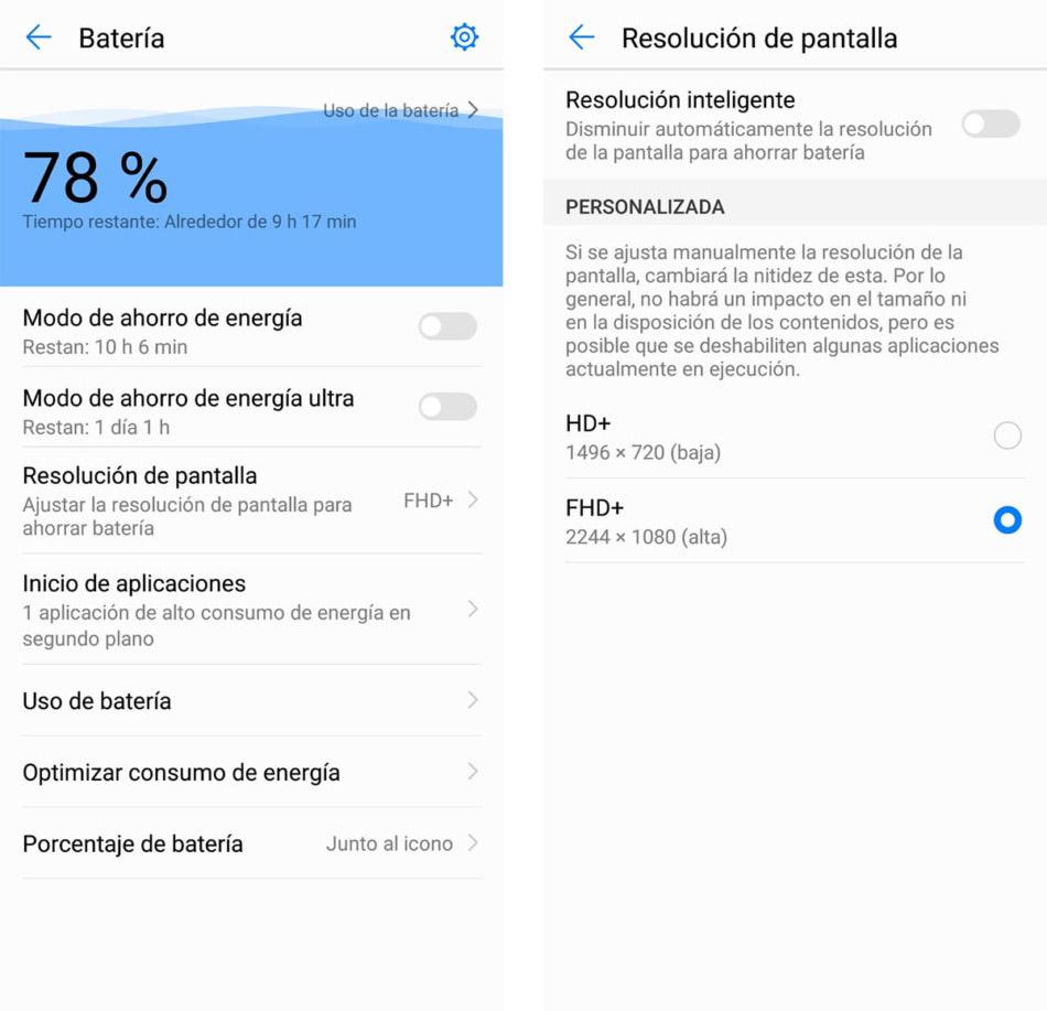 Ahorrar batería en el Huawei P20