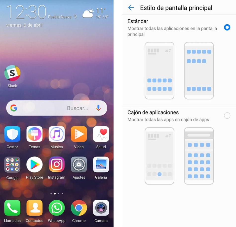 Crear una caja de aplicaciones en el Huawei P20