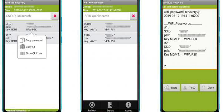ver las contraseñas WiFi almacenadas en tu Android