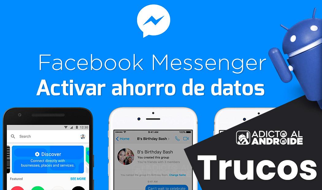 Activar ahorro de datos en Facebook Messenger 2019