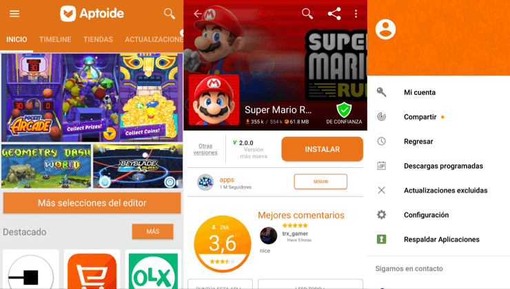 Tiendas alternativas a google play